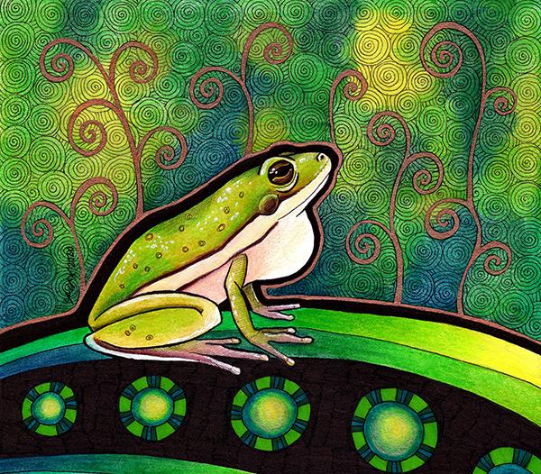 American Green Tree Frog illustrated by Ravenari