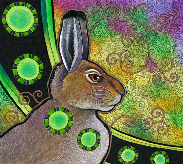 illustration of Mountain Hare by Ravenari