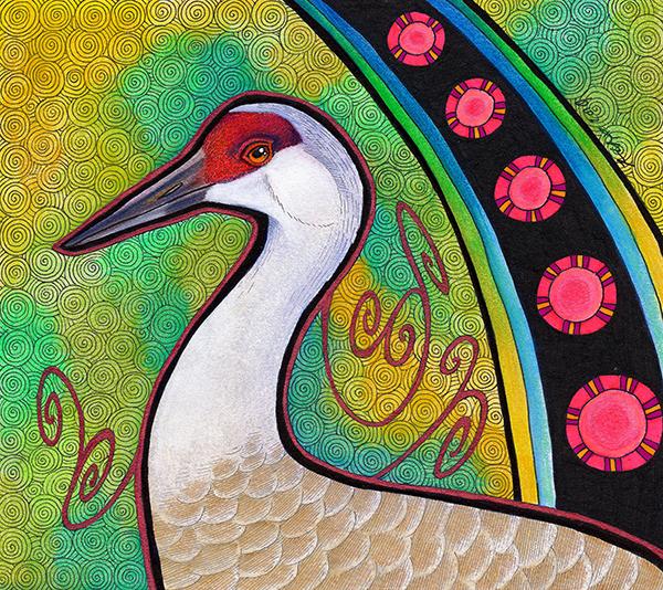 Sandhill Crane illustrated by Ravenari