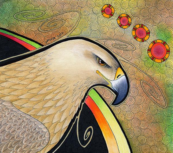 Tawny Eagle illustrated by Ravenari