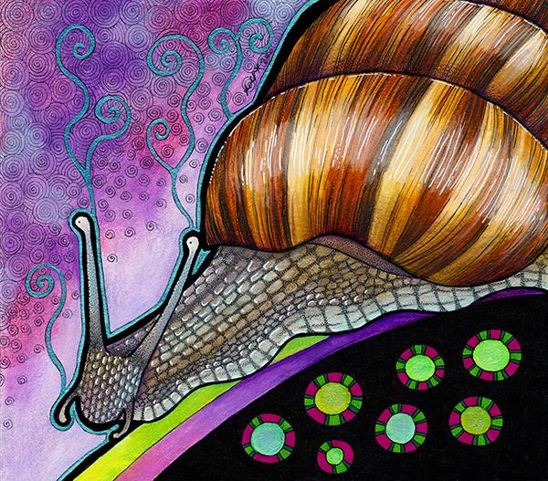 Illustration of giant african land snail by Ravenari
